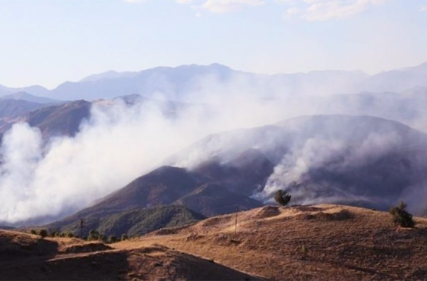 Wildfires in Mount Cudi