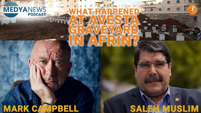 Saleh Muslim speaks to Medya News about Kurdish Avesta graveyard desecration in Afrin